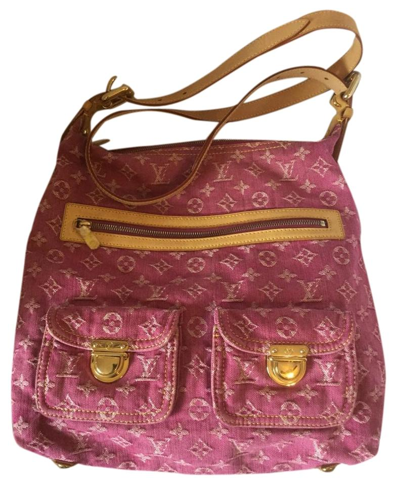 louis vuitton sale baggy denim fuchsia cross body bag cross body bags on sale. Black Bedroom Furniture Sets. Home Design Ideas