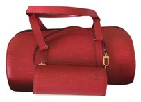 Louis Vuitton Epi Leather Mini Baguette Satchel in Red