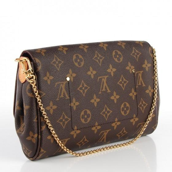 Louis Vuitton W Favorite Mm Clutch with W/Strap Monogram ...
