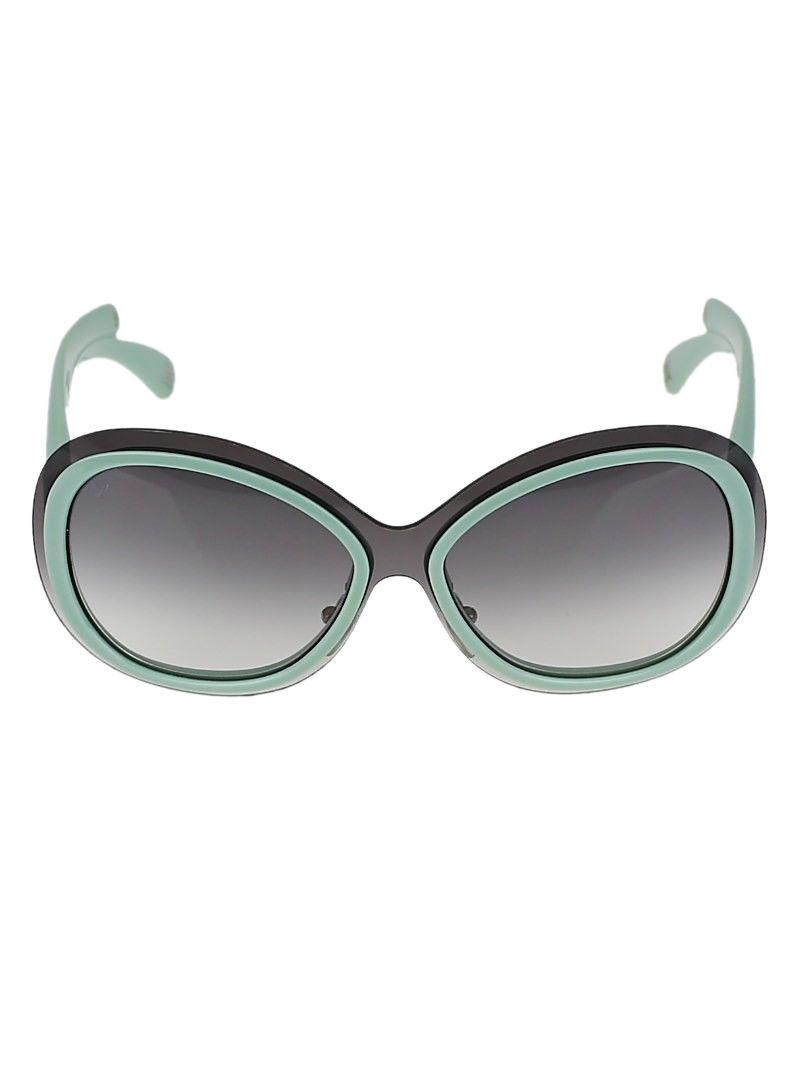 Louis Vuitton Green Two Tone Acetate Frame Flore