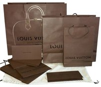 Louis Vuitton 5 Louis Vuitton Handheld Shopping/ Gift Bag Variety Plus 7 Receipt Holders (Shipping Included)