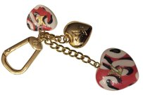 Louis Vuitton Louis Vuitton Pink Heart Leopard Charm