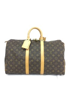 Louis Vuitton Lv Monoram Keepall 45 Canvas brown Travel Bag