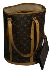 Louis Vuitton Monogram Bucket Tote in Brown
