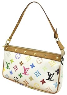 Louis Vuitton Monogram Leather Studded Multicolore Clutch