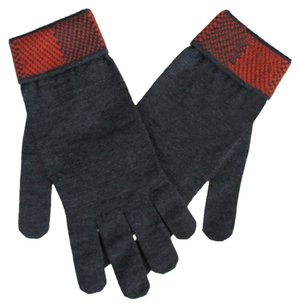 Louis Vuitton Multicolor Navy Blue Brique_Bleu_Clair 100% Wool Mosaic V Gloves