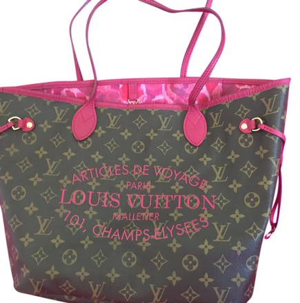 705d82fed950cd Louis Vuitton Neverfull Ikat Mm Brown Monogram Canvas with Lv Logo. Tote -  Tradesy