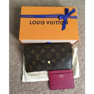 Louis Vuitton NEW ! Fuchsia wallet/clutch + card holder