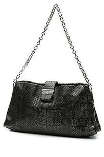 Louis Vuitton Limited Edition Python Perfore Lutece Satchel in Black