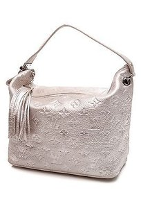 Louis Vuitton Monogram Satchel in Metallic silver