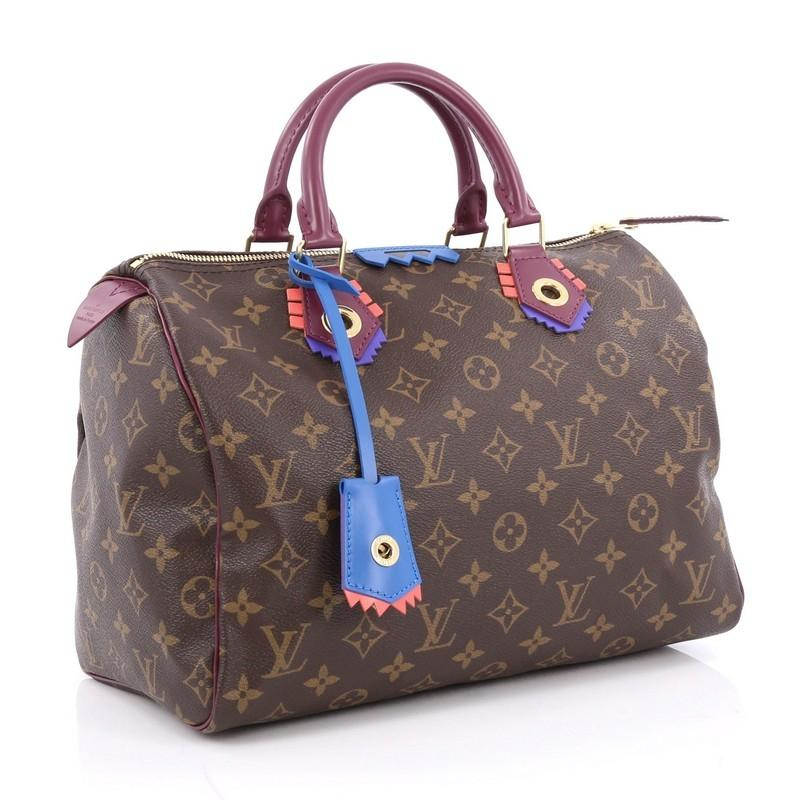 Louis Vuitton speedy 30 Limited Edition Bag In Brown Totem Monogram Canvas kcDf8gsN85