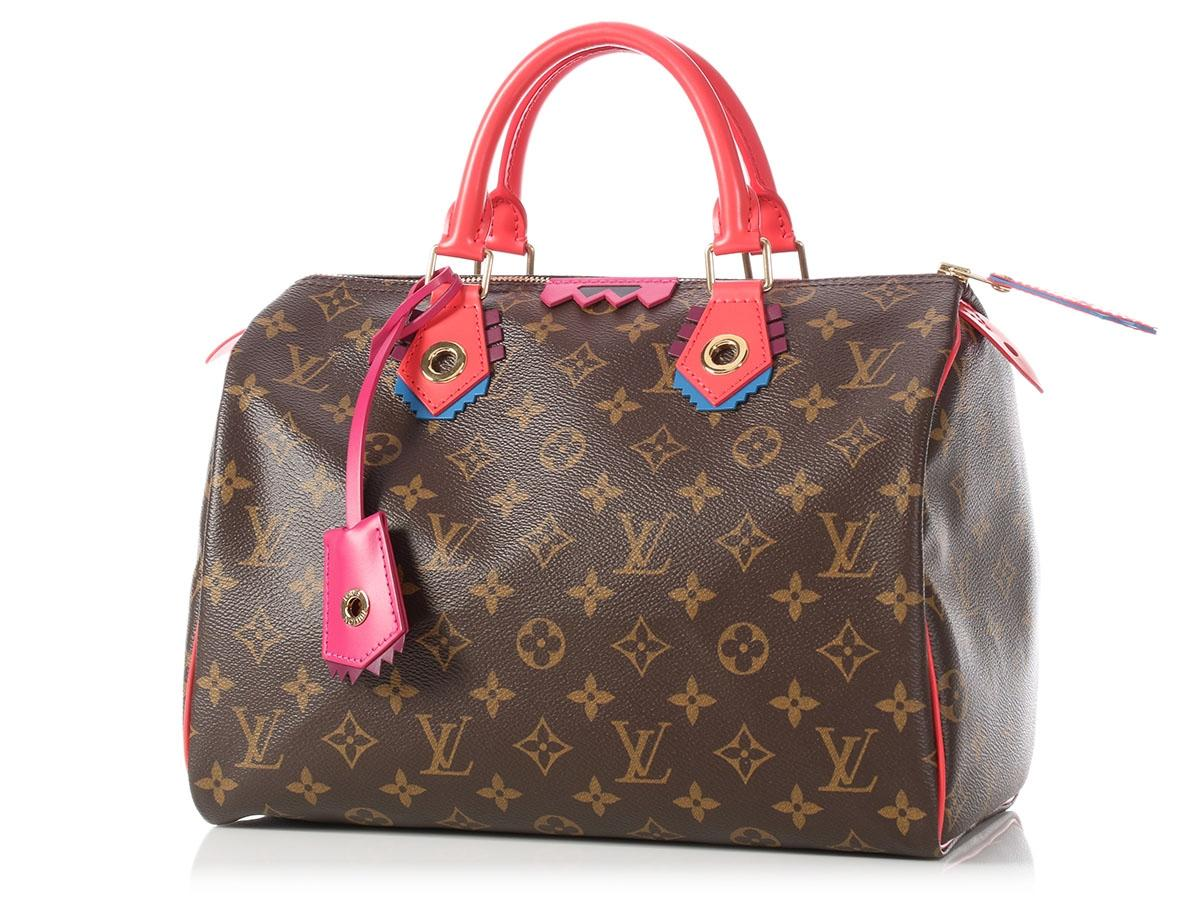 Louis Vuitton speedy 30 Limited Edition Bag In Brown Totem Monogram Canvas