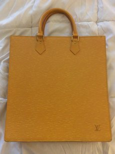 Louis Vuitton Work Attache Tote in Yellow