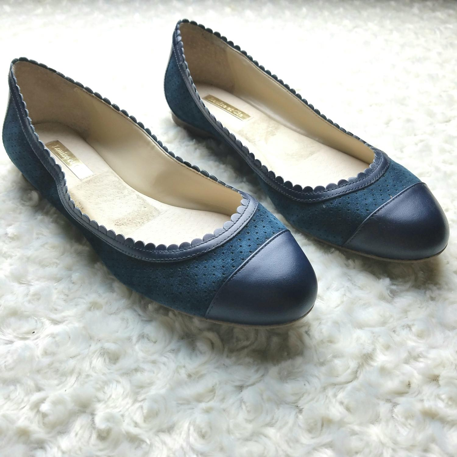Louise et Cie Navy Ballet Flats Size US 8.5 Regular (M, B)