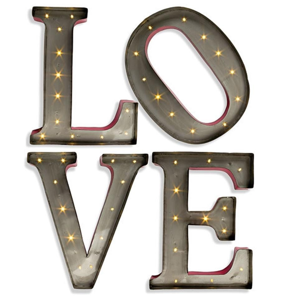 Love Marquee Lighted Letters Metal Led Letter | Tradesy Weddings