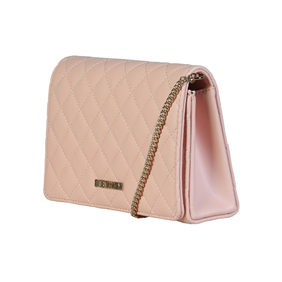 Love Moschino Quilted Light Pink Clutch Tradesy