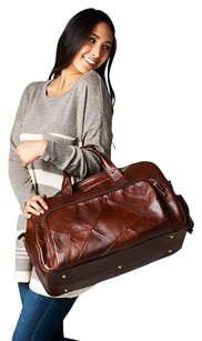 Love Stitch Brown Travel Bag
