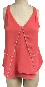 Love Stitch Sleeveless Top Coral