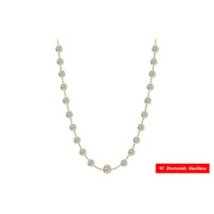 LoveBrightJewelry Diamonds by the Yard Necklace 14kt yellow gold 5.00 ct. t.w.