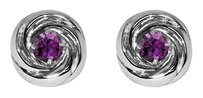 LoveBrightJewelry 1.00 Carat Round Natural Amethyst Crossover Earrings