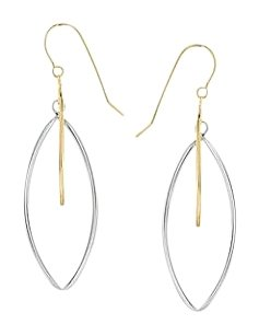 LoveBrightJewelry 14K Yellow Gold and 925 Sterling Silver Earrings
