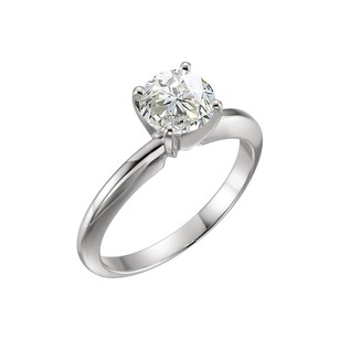LoveBrightJewelry 1.72 CT Certified Diamond Solitaire Engagement Ring in 14K White Gold
