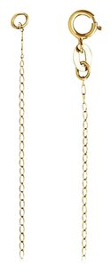 LoveBrightJewelry 1mm 14K Yellow Gold Solid Curb Chain Necklace -24