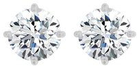 LoveBrightJewelry 2.00 Carat CZ Fleur De Lis 14K White Gold Earrings