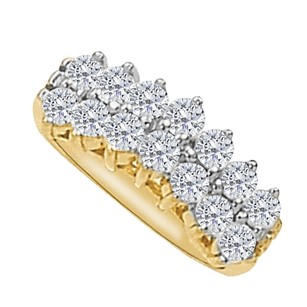 LoveBrightJewelry Beautiful Cz Total Weight Ring In 14k Yellow Gold