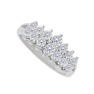 LoveBrightJewelry Cluster And Pyramid Total Weight Ring In 14k White Gold