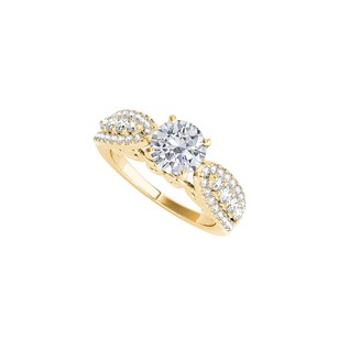 LoveBrightJewelry Yellow Gold Vermeil April Birthstone Cz Engagement Ring