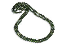 LoveBrightJewelry 8.5mm Round Green Freshwater Cultured Pearl Strand Necklace 80 Inches