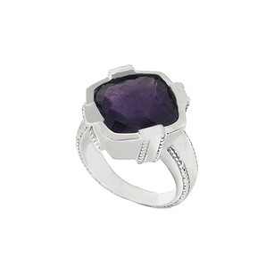 LoveBrightJewelry African Amethyst Stone Ring in 925 Sterling Silver