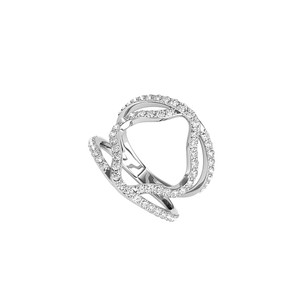 LoveBrightJewelry Amazingly Beautiful Designer Style CZ Ring 925 Silver