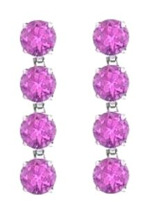 LoveBrightJewelry Amethyst Drop Earrings in Rhodium Plating 925 Sterling Silver 8 Carat Total Gem Weight