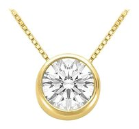 LoveBrightJewelry April Birthstone Cubic Zirconia Pendant in 18K Yellow Gold Vermeil over Sterling Silver