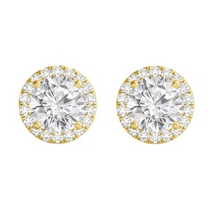 LoveBrightJewelry April Gifting Idea CZ 18K Yellow Gold Vermeil Earrings