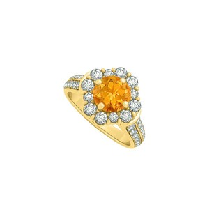LoveBrightJewelry Beautiful jewelry Gift Citrine and CZ Ring 2.00 TGW