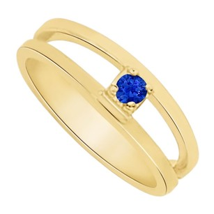 LoveBrightJewelry Beautiful Sapphire Mother Ring in 14K Yellow Gold