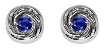 LoveBrightJewelry Brilliant Cut Sapphire Crossover Earrings 925 Silver