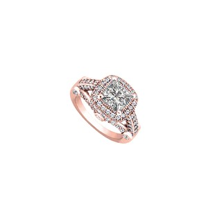 LoveBrightJewelry Conflict Free Diamond Engagement Ring in 14K Rose Gold