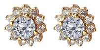 LoveBrightJewelry Cool Pair of Cubic Zirconia Earrings 14K Yellow Gold