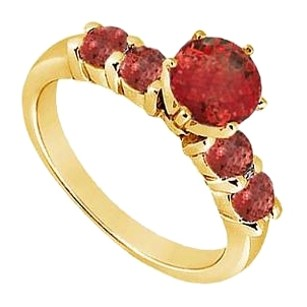 LoveBrightJewelry Created Ruby Ring Yellow Gold Vermeil 0.75 CT TGW