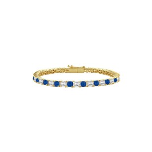 LoveBrightJewelry Created Sapphire and Cubic Zirconia Tennis Bracelet with 2.00 CT TGW