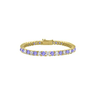 LoveBrightJewelry Created Tanzanite and Cubic Zirconia Tennis Bracelet