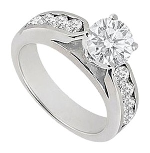 LoveBrightJewelry Cubic Zirconia Engagement Ring Sterling Silver 0.75 CT TGW