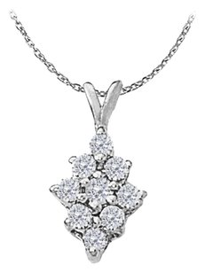 LoveBrightJewelry Cubic Zirconia Fashion Pendant in Sterling Silver 0.50 CT TGW,Perfect Jewelry Gift for Women
