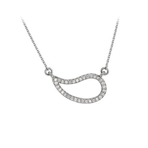 LoveBrightJewelry Cubic Zirconia Geometric Necklace 925 Sterling Silver