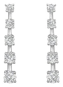 LoveBrightJewelry Cubic Zirconia Journey Earrings Sterling Silver 2.00 CT CZs
