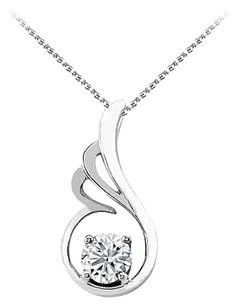 LoveBrightJewelry Cubic Zirconia Pendant in 925 Sterling Silver with Free Chain Unique Design and Decent Price